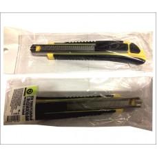 Нож универсальный с выдвижными сменными лезвиями 9мм RUTEK
