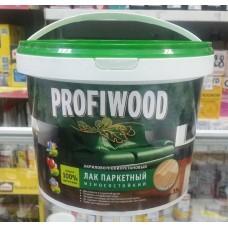 Лак паркетный PROFIWOOD износост. водно-дисперс. акрилово-полиуретан. глянцевый 2,5 кг (4)