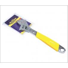 Ключ разводной 250мм с обрезиненной ручкой RUTEK