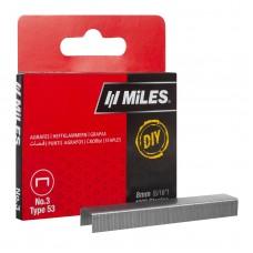 Скобы для степлера 8 мм тип 53 DIY заострены, закалены, оцинкованы,1000шт