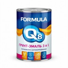 Грунт-эмаль по ржавчине (3 в 1) красная 0,9 кг FORMULA Q8
