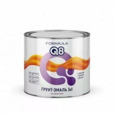 Грунт-эмаль по ржавчине (3 в 1) красно-коричневая 1,9 кг FORMULA Q8