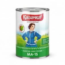 """Краска МА-15 зелен 0,9 """"Казачка"""" Ростов.обл.(14шт)"""