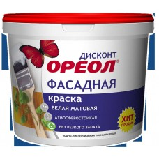 """ВДАК """"Ореол"""" ДИСКОНТ 6,5кг фасад. бел. п/а мат"""