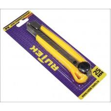 Нож универсальный с сегментированным лезвием 25мм, круглый фиксатор RUTEK
