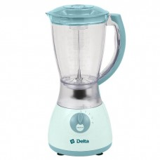 Блендер DELTA LUX DL-7310 с кофемолкой серо-голубой, 600Вт, чаша стекло 1,5л, 350Вт, кофемолка 50г/6