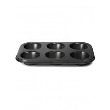 НМ 3058  форма для выпечки 6 кексов, прямоугольная 26,3х18,5х3см