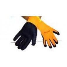 Перчатки  вспененные утеплен оранж-черн(12) Алмаз