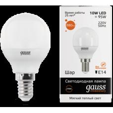 Лампа Gauss LED Elementary Globe 10W E14 2700K 1/10/100