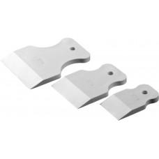 Набор шпателей резиновых 40-60-80 мм, белые RUTEK