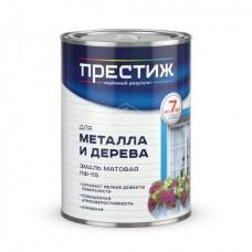 """ПФ-115  белая МАТОВАЯ  0,9 кг """"Престиж"""" эмаль (14шт)"""