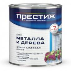 """ПФ-115  белая МАТОВАЯ 1,9 кг """"Престиж""""  эмаль (6шт)"""