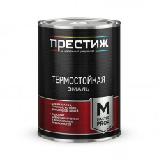 Эмаль термо.  СЕРЕБРИСТАЯ 0,8 кг до 400ºС Кремнийорганическая ПРЕСТИЖ (14)
