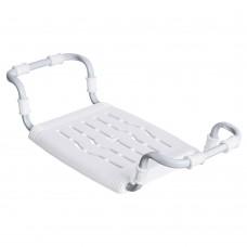 Сиденье для ванной  раздвижное (пластик) белый СВ5/Б (650/700х290х140мм) НИКА