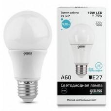 Лампа светод.Gauss Elemen А ЛОН 10W E27 4100K/10