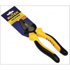 RUTEK Пассатижи комбинированные с двухцветной ручкой 180мм (SL)