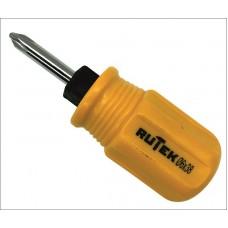 RUTEK Отвертка 2 в 1 желтая 6*38