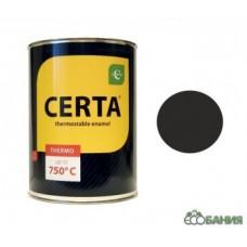 Эмаль черная 0,8 кг Церта, термо, 700°С (6)