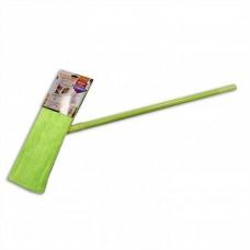 КОШКИН ДОМ Швабра с насадкой из микрофибры гладкий ворс 40*10см, ручка 120см без телескопа
