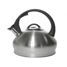 НМ 55183 чайник со свистком, черная  ручка, 2.5 л., серебро