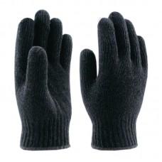 Перчатки Бирск х/б ЗИМА без ПВХ черные (5)