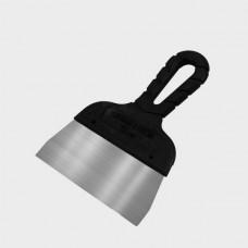 Шпатель с черной ручкой нерж.сталь  80 мм (50шт/уп) (Новосиб)