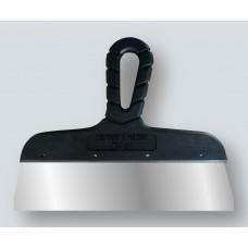 Шпатель с черной ручкой нерж.сталь 100 мм (40шт/уп) (Новосиб)