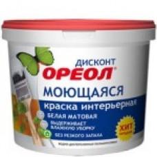"""ВДАК """"Ореол"""" ДИСКОНТ моющ. интер. 1,5 кг белая матов (6) 3211"""