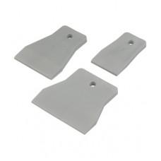 RUTEK Шпатель резиновый 40 мм, белый/5 ( за 1 шт)