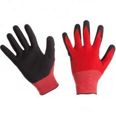 Перчатки красные нейлоновые (АКЦИЯ) полиэфир. с латексом 43гр(12) RICH