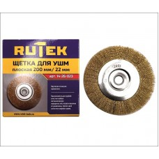 RUTEK Щетка металл. для УШМ 200мм/22мм, плоская