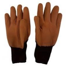 Перчатки нейлон ВСПЕНЕННЫЕ Полный облив коричневые(12)